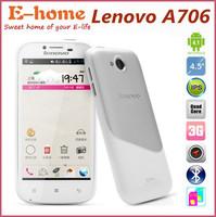 In Stock Original Lenovo A706 4.5 Inch IPS MSM8225q Quad Core Android 4.1 Dual SIM 1G Ram 4G Rom 5MP Camera multi language phone