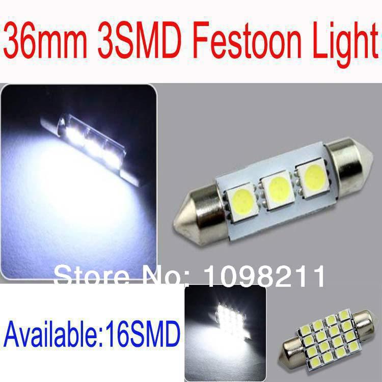 Источник света для авто 36mm Festoon Light 4 3SMD 1.5 36 6411 btc 6411
