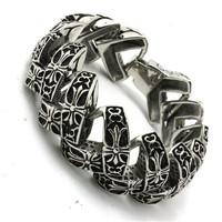 BC0248 Fashion 117g Heavy Cross Bracelet 316 Stainless Steel Hot Sale Wholesale Cool Punk Style Top Bracelet