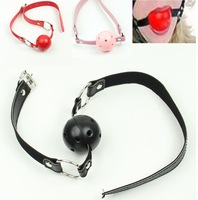 A25Pu Leather Alternative toys hollow mouth gagged the ball horse with type Oral Fixation mouth stuffed Red/Black/PInk