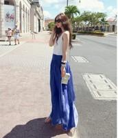 Harem pants jumpsuit female wide leg pants trousers chiffon fashion long culottes trousers skirt wide leg pants big