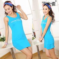 7 Candy color 100%  cotton Vest skirt dress retail