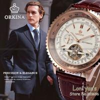 Orkina Fashion Oversize Flywheel Men Day  Self-wind Wrist Mechanical Watch+Gift Box Free Ship
