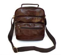 nice quality elegant cowhide male shoulder bags,genuine leather small vintage messenger bags 7027