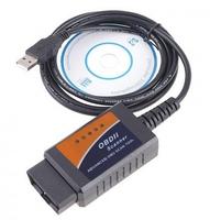 ELM327 OBDII OBD-II OBD2 USB Car Interface V1.5 Auto Diagnostic Scanner DHL free shipping