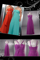 PR1598 Cheap Simple Beading Design Brand Chiffon Style Halter Scoop Evening Dresses,Fashion Sexy Lady Evening Gown Free Shipping