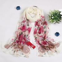 2014 Women bohemia chiffon silk print silk scarf four seasons thermal scarf