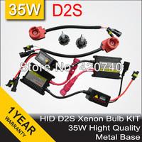 Free Shipping D2S/D2C 35W HID Conversion Headlight Car Xenon Kit Lamp Bulb High Quality Metal Base 4300K 5000K 6000K 8000K