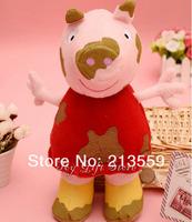 "Free Shipping New Cute 12"" Peppa Pig Plush Doll Figure Dirty Peppa Kids Toys Retail"
