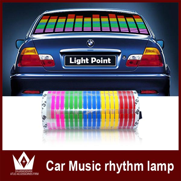 70*16cm Sound Music Activated EL Sheet Car Sticker Equalizer Glow Flash Panel LED Multi Color Decorative Light Car Accessories(China (Mainland))