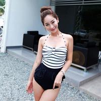 Hot spring swimsuit triangle one piece slim female swimwear 5508