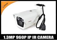 Free shipping HD 1.3M  CCTV Security IP Networking camera 50m Long range IR with onvif/P2P/POE