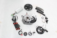 Free shipping! 48V 500W Mid-Drive Motor Ebike Conversion Kits with 6-speed LCD Display