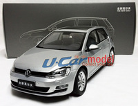 1pcs/ lot  1:18 China Faw Volkswagen GOLF 7  2013 Die-cast  Model Car(New arrival) Silver