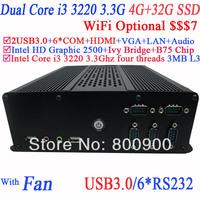 MiniPC Unboxing itx computer with Intel Dual Core Four Threads i3 3220 3.3Ghz Intel HD Graphic 2500 HDMI USB 3.0 4G RAM 32G SSD