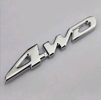High quality Car Metal Chrome 4WD Displacement Emblem Badge All Wheel Drive Auto sticker 65pcs