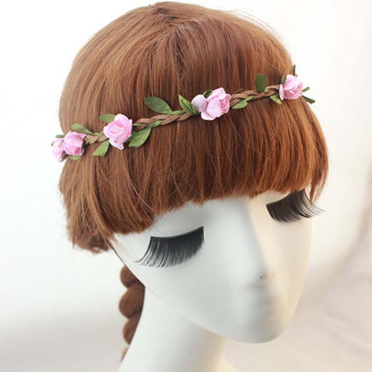 Hot Sale New Fashion Womens Bohemia Beach Flower Hair Bands Headband Hair Accessory 9 Colors Drop Shipping Headwear-001507(China (Mainland))