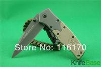 New 2014 SOG FA02 quick open folding knife 5Cr13 56hrc G10 + steel handle Desert colors Tactical knives hunting tools 5pcs