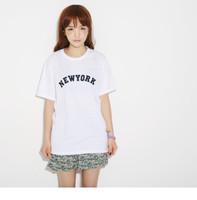 Free Shipping  spring and summer women's newdu Alphabet cotton female Short sleeve T-shirt