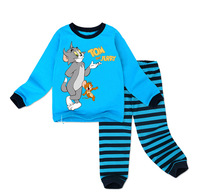 Retail free shipping 2014 new 100% cotton tom and jerry pajamas for boys pijamas kids pyjamas set 2-7yrs