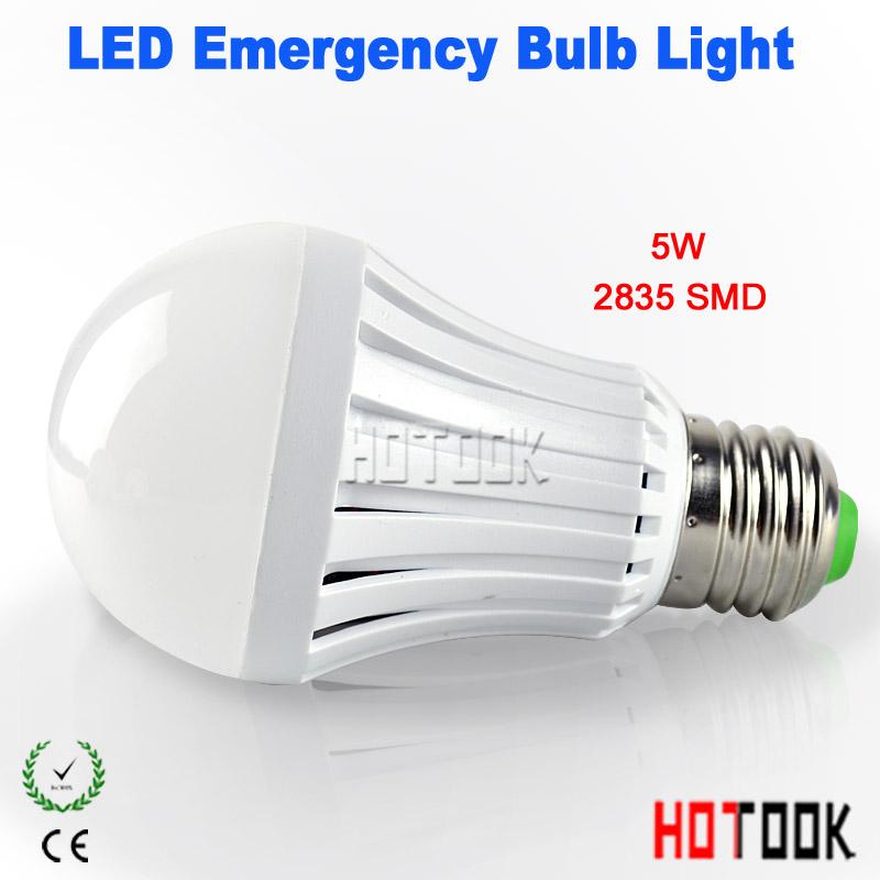 2015 5W E27 2835smd led emergency light rechargable led Battery Bulb LED Lampara for home ights LED bombillas CE RoHS x 10pcs(China (Mainland))