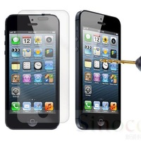 Wholesale 10pcs/lot Brand New Premium Explosion-proof Tempered Glass Film Screen Protector Kit for iPhone 5 5C 5S