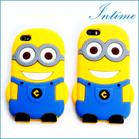 Free Drop Shipping Despicable Me Minions Case Soft Rubber Silicone 3D Cell Phone Case Protective For iphone 4 iphone5s