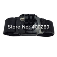3pcs/lot Gopro Velcro wrist band with Mount of 360 degree rotation with lock for GoPro Hero 4/3+/3/2/1/SJ4000 GP128