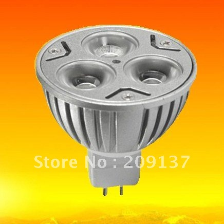 Wholesale ! Energy Saving ! MR16 3x3w 12V warm white LED lamp LED Spot Light(China (Mainland))