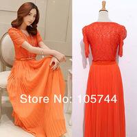 Free shipping 2014 new arrive High quality lady fashion chiffon long dress summer bohemia dress 9230