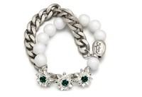 Vintage Metal Chain Beaded Crystal Bracelet