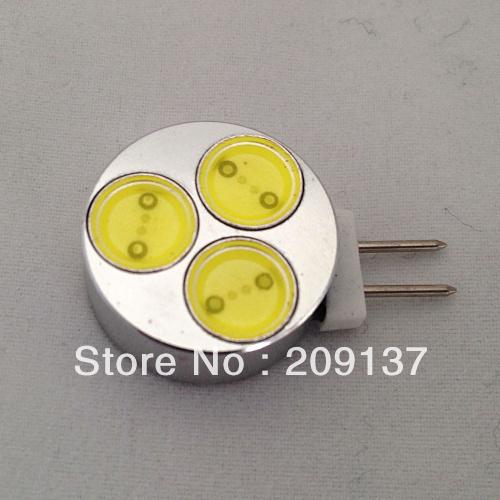 10pcs/lot G4 AC/DC 12V 3W LED Crystal Lamp Corn Bulb Droplight Chandelier COB led Spot Light Cool/Warm White(China (Mainland))