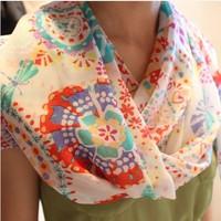 Fashion Scarves for Womens Promotional discounts Chiffon Velvet Geometric Animal Solemn and Elegant Women Print Scarf Hot Sale