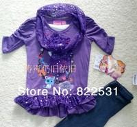 Lalaloopsy girls dress original single children's clothing girls summer new short-sleeved T-shirt Angels Leggings Set