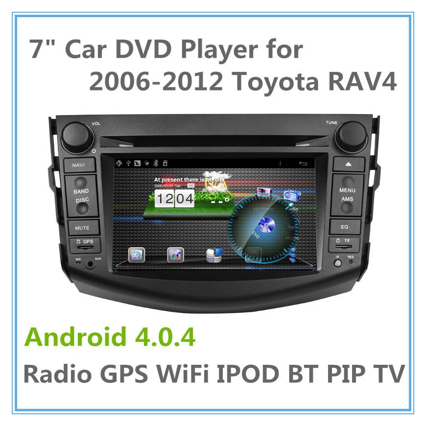 New arrival Car Headunit Sat Nav Android DVD For Toyota RAV4 with 3G WIFI GPS Bluetooth RDS Radio USB SD Stereo Autoradio Russia(China (Mainland))