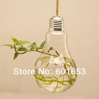Home glass vase modern home fashion hanging hydroponic bulbs vase novelty home decoration