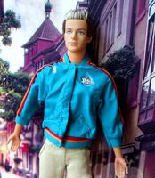 (3 off 13 usd) Pistons Basketball Team Blue Coat for Ken Doll