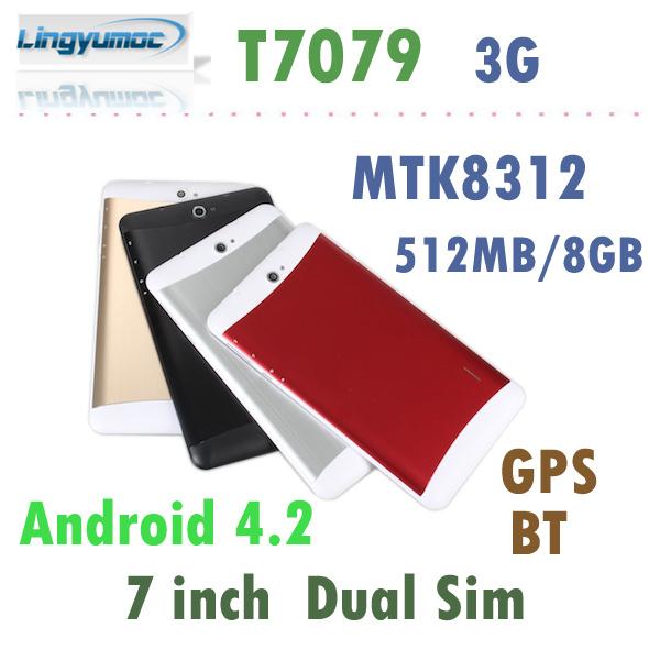 Планшетный ПК Lingyumoc 7/3g MTK8312 Android 4.2 GPS Bluetooth 512MB /8GB 1024 x 600 T7079