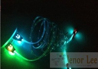 New 30pin USB 2.0 Cable Visible Flashing LED Light For iPhone 4S 4G 3GS iPod Touch 4 iPad 2 3 Charger Cable, Free shipping 20pcs