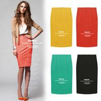 2014 summer 4 candy colors street fashion slim hip skirt female pencil skirt S M L XL