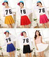 12 color Short skirt Pleated skirt
