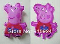 New arrive 50pcs/lots wholesales Peppa Pig PVC balloon Birthday party decoration cartoon balloons Hot sale Free shipping Brazil