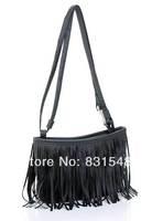 free shipping fashion Retro small tassel ladies shoulder bag handbag NO B18