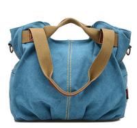 4 color New 2014 women fashion canvas handbag ladies casual shoulder bag brand female tote purse mulheres saco bolsas femininas