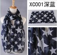 FivePointed Star print scarf 14 fashion Women Voile Shawl Scarves Wraps Men's Scarfs Cotton Brand Hijab Echarpe Foulard Bufandas