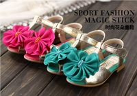 [E-Best] Wholesale !5 pairs/lot ! New 2014 Children's sandals Girl's fashionable flower shoes Peep-toe Sandals footwear S022
