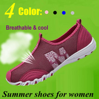 2014 New Arrival DIY mesh soft Breathable Sneakers for Women Fashion women Sneakers ladies Running Shoes Pink Size 34-43