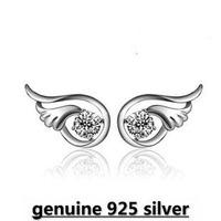 Wholesale Genuine 925 sterling silver crystal fashion earrings wedding jewelry for women 922W3