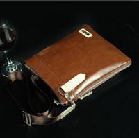 Free Shipping Men's Casual Business Messenger Bag High Grade PU Leather Shoulder Bag Sling Bag As Gift BG101