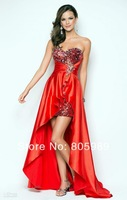 Free shipping best selling custom-made any color Fashion Lustrous Satin Sleeveless  Evening dress SH0585